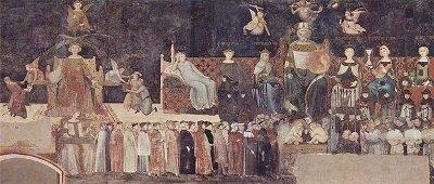 Allegoria del Buon Governo, 1337-1340, 770 cm., Sala della Pace, Palazzo Pubblico, Siena