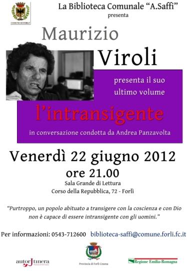 Maurizio Viroli presenta l'intransigente a Forlì